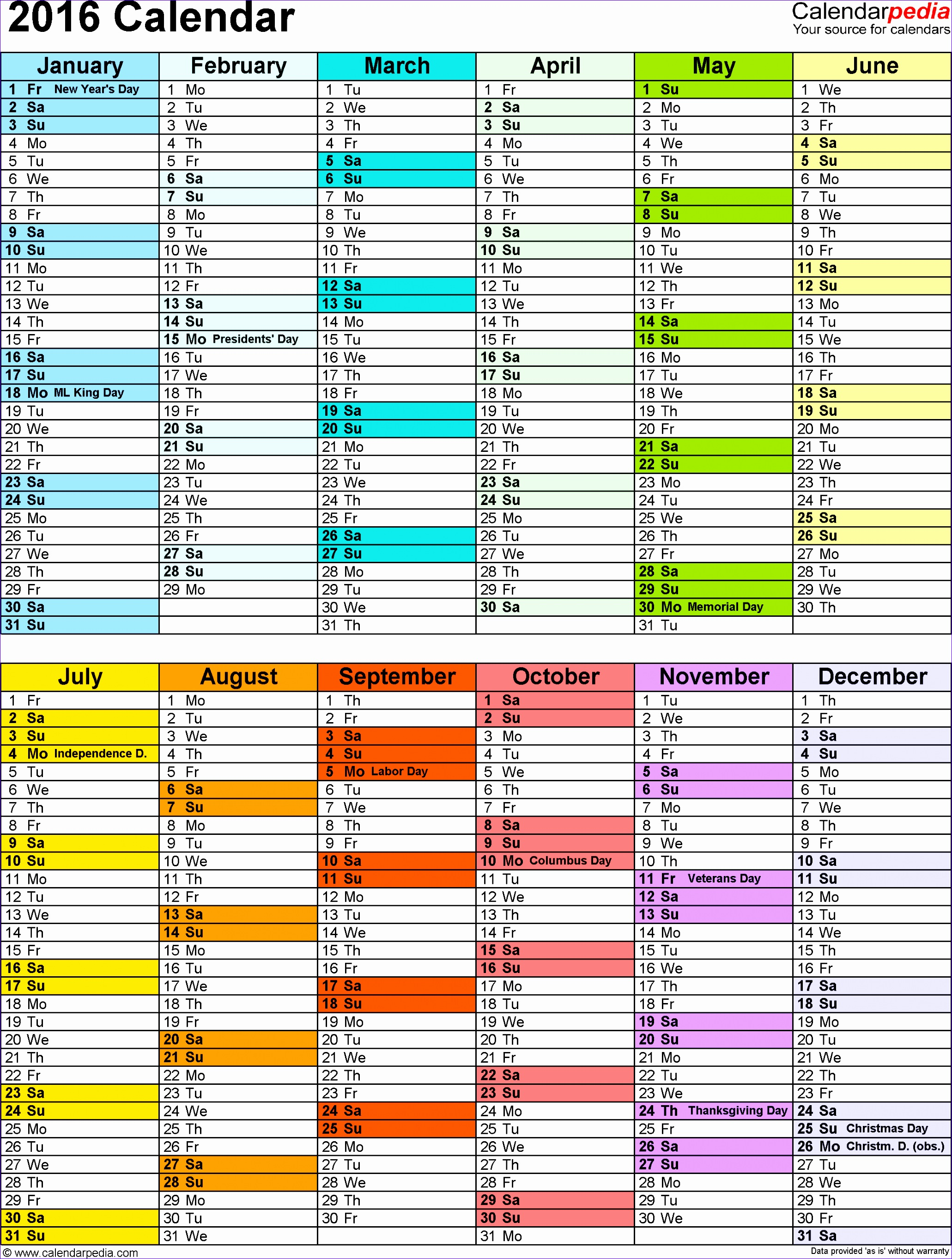 6 Annual Leave Planner Excel Template