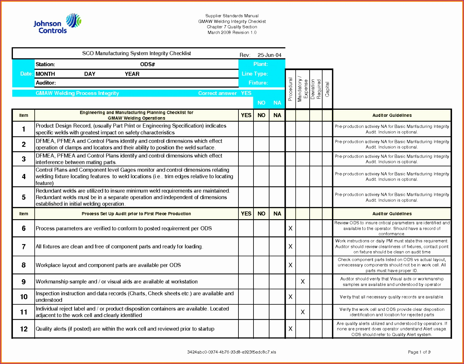8 Check Off List Template Excel