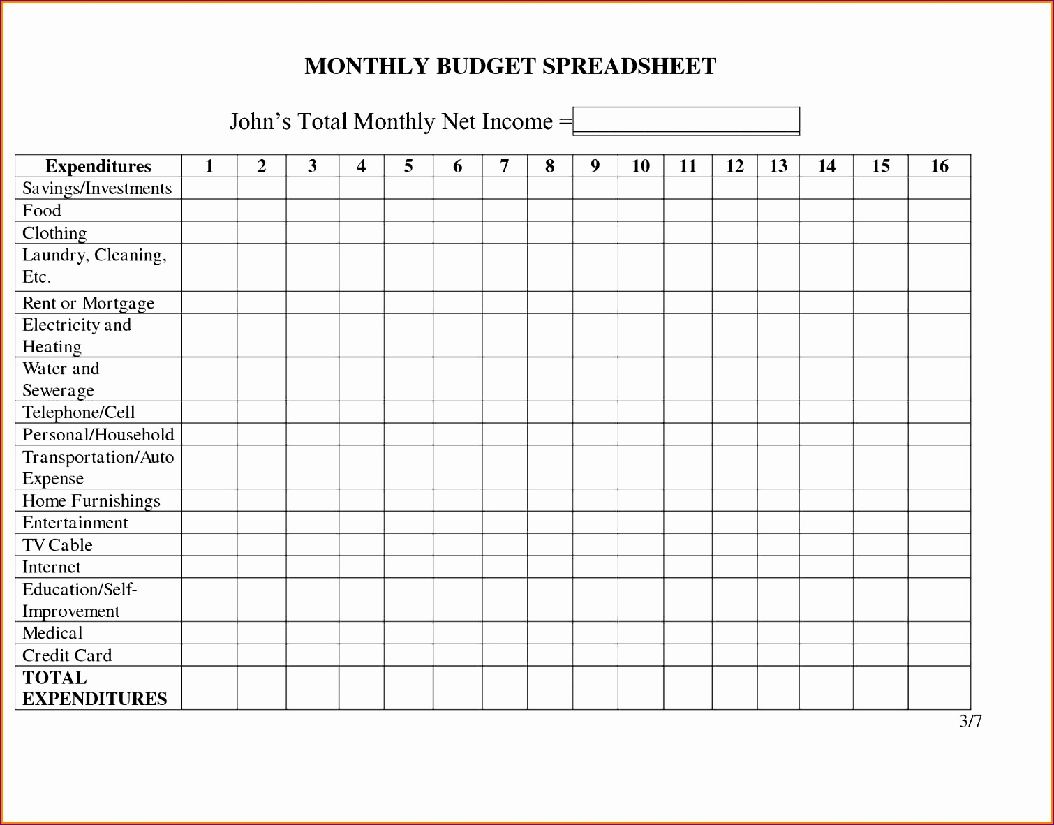 7 Expense Tracker Template For Excel