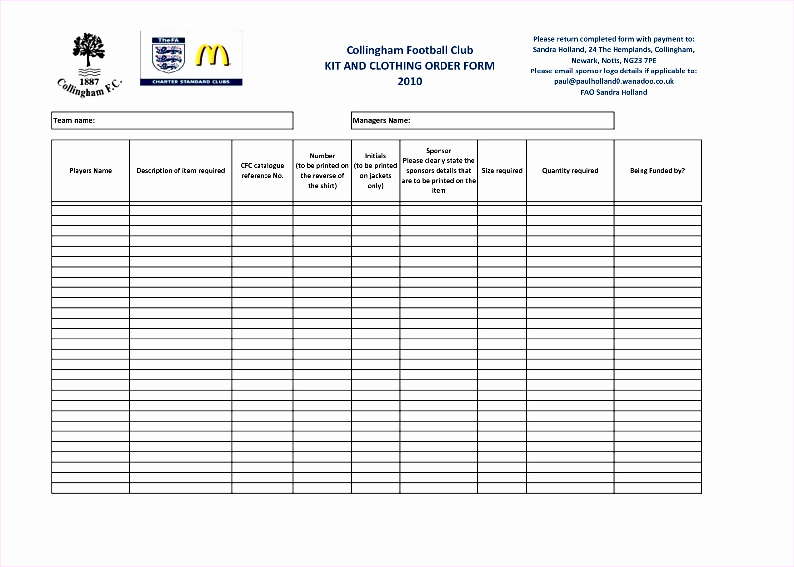 9 Product Order Form Template Excel