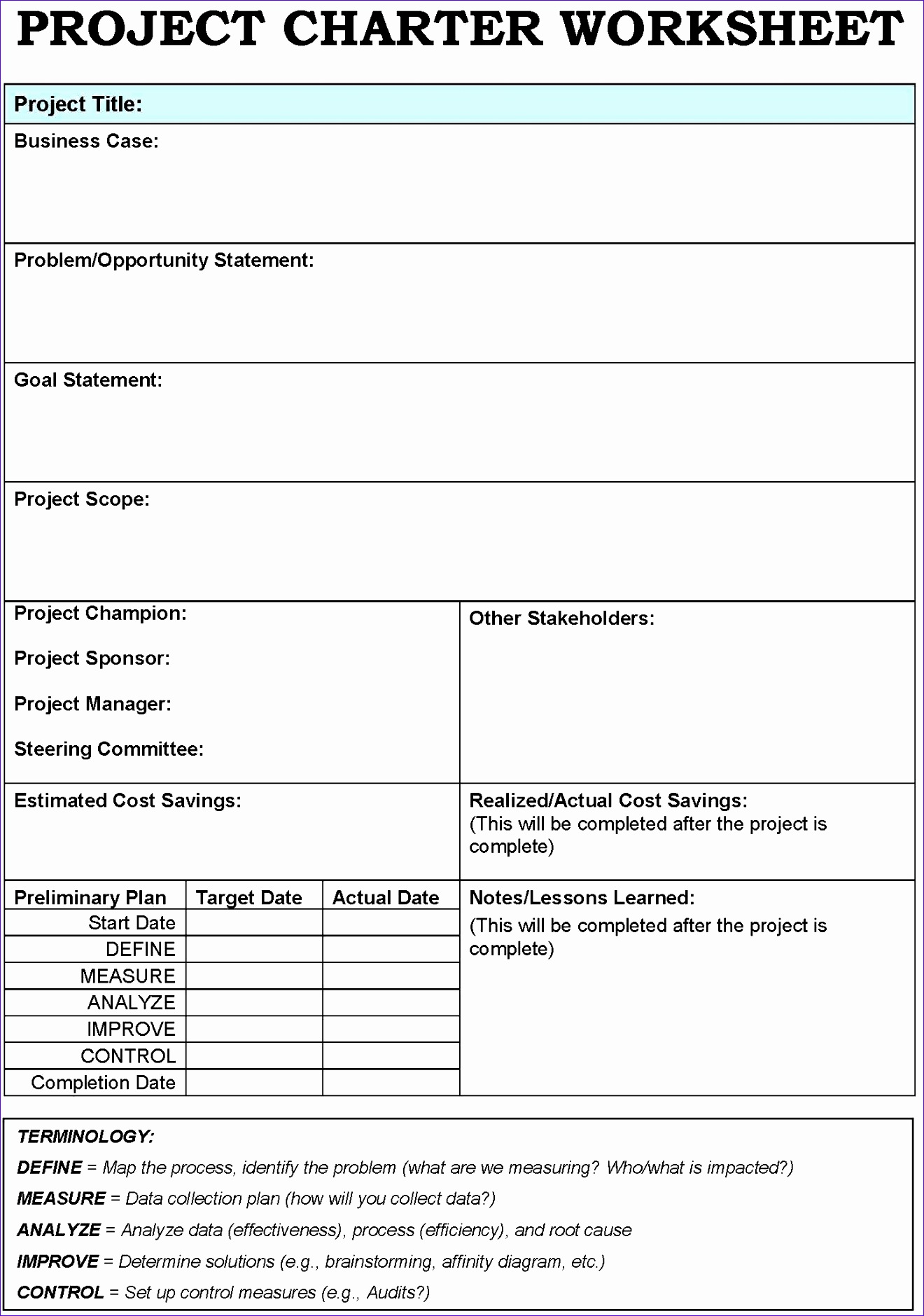 8 Root Causeysis Excel Template