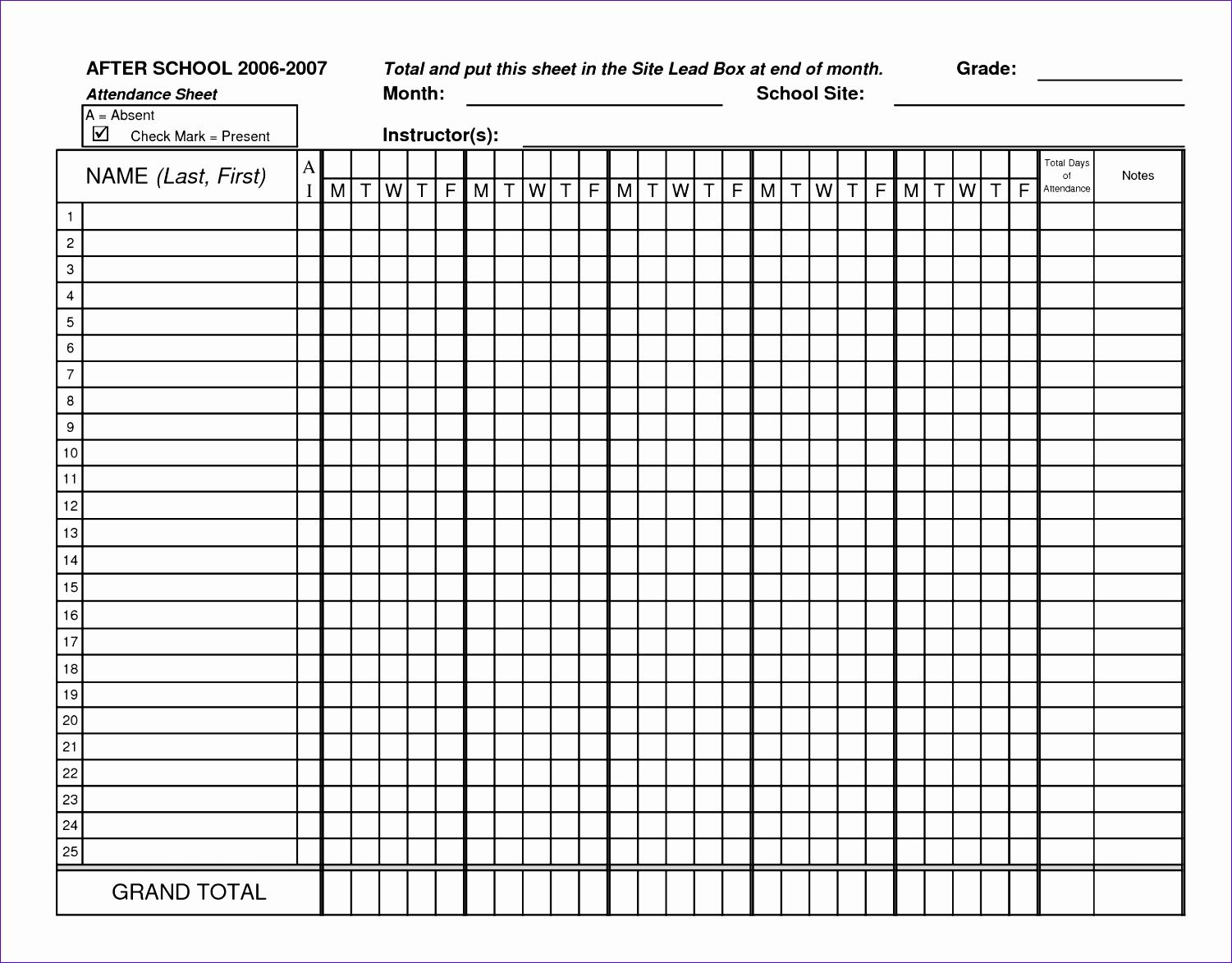 9 Run Sheet Template Excel