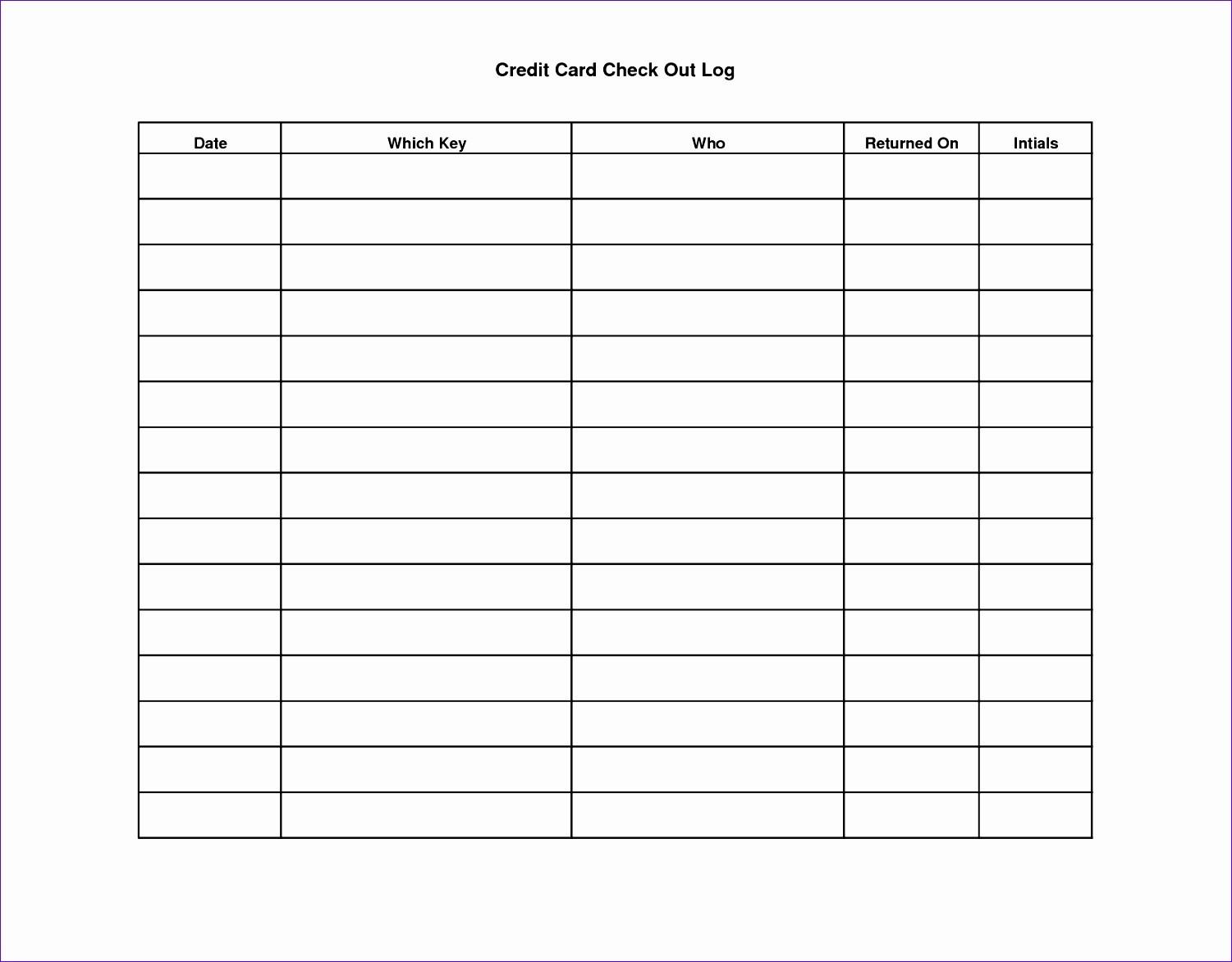 Sign Out Sheet Excel