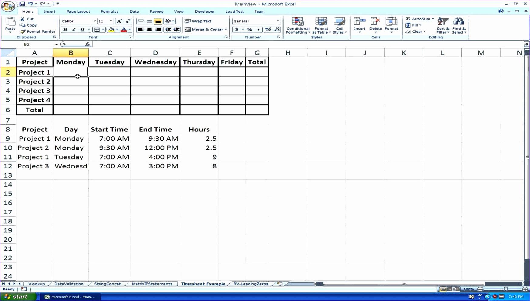 10 Timesheet Calculator Excel Template