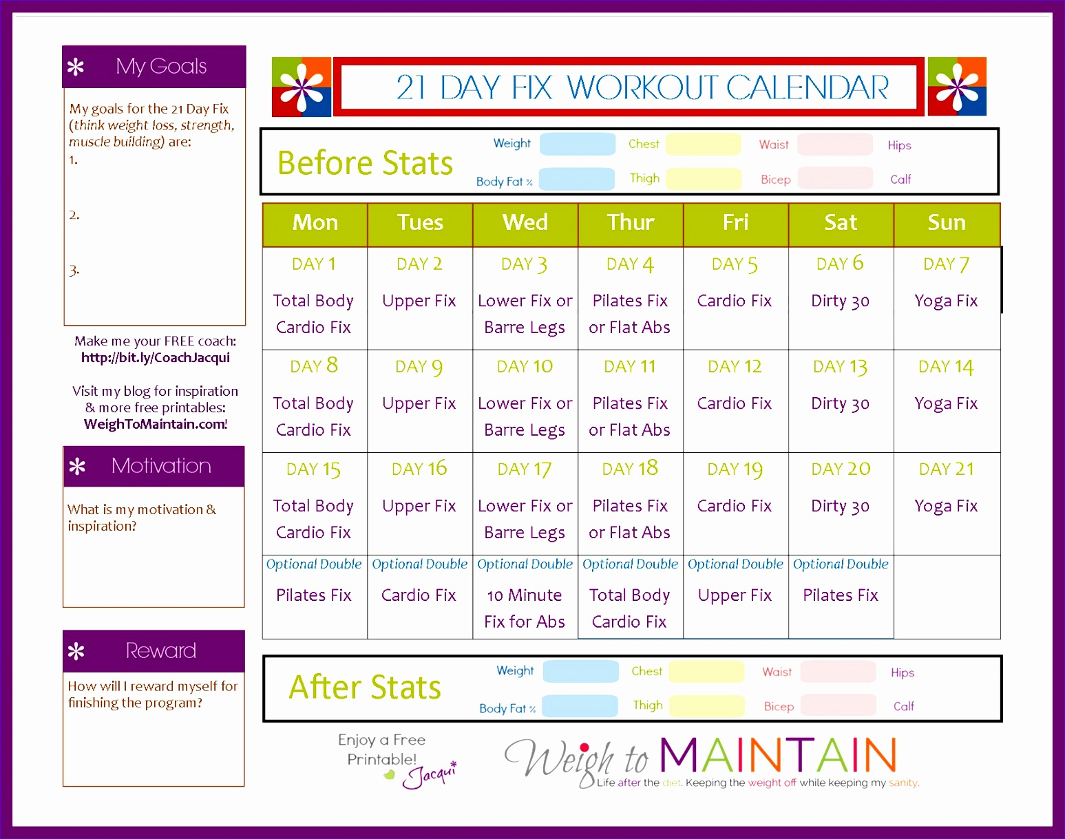 9 Workout Schedule Template Excel