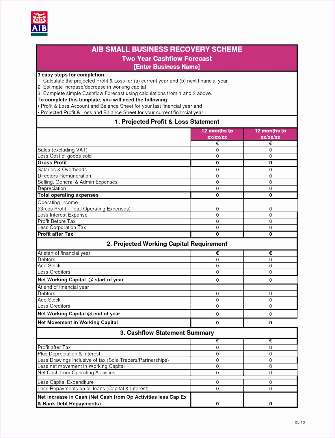 5 Monthly Financial Statement Template Excel