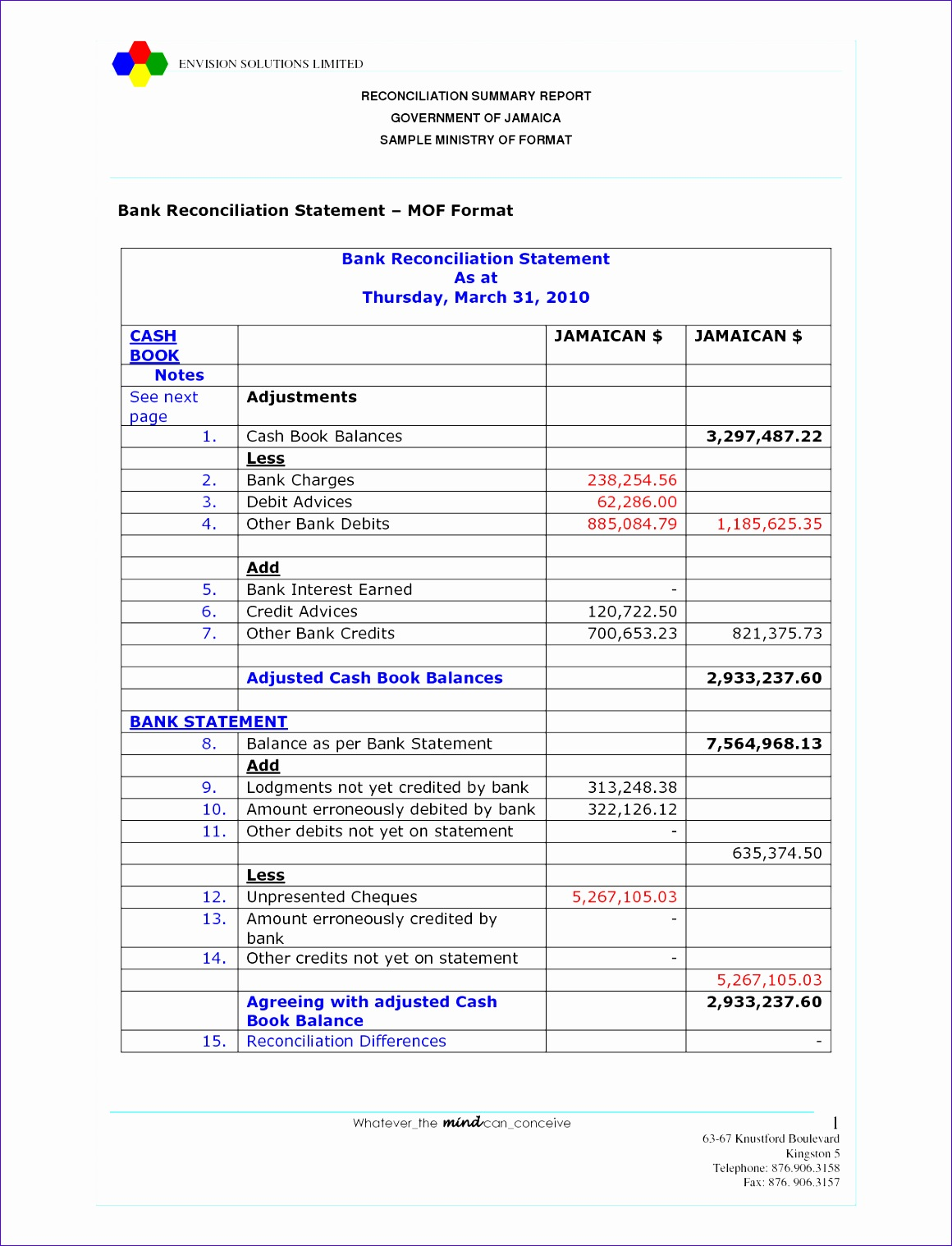 10 Bank Statement Template Excel