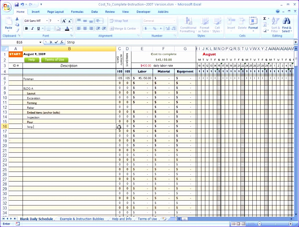 5 Costing Template Excel