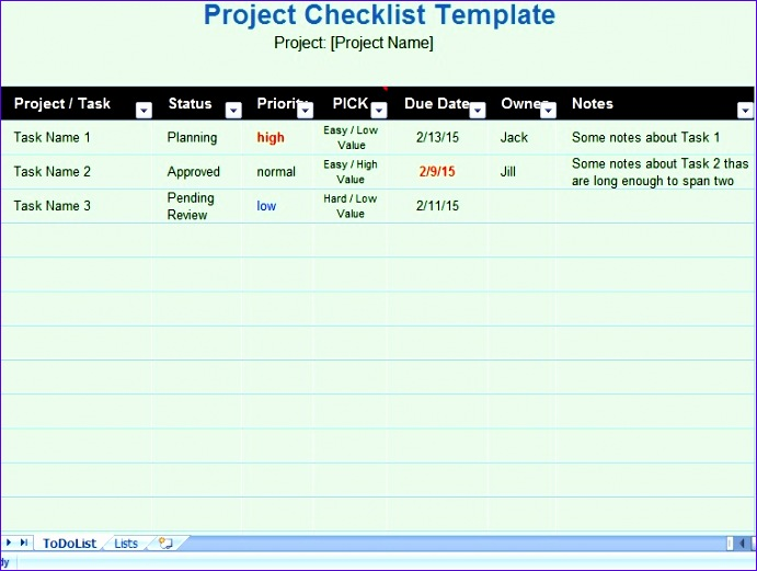 11 Daily Task List Template Excel ExcelTemplates ExcelTemplates