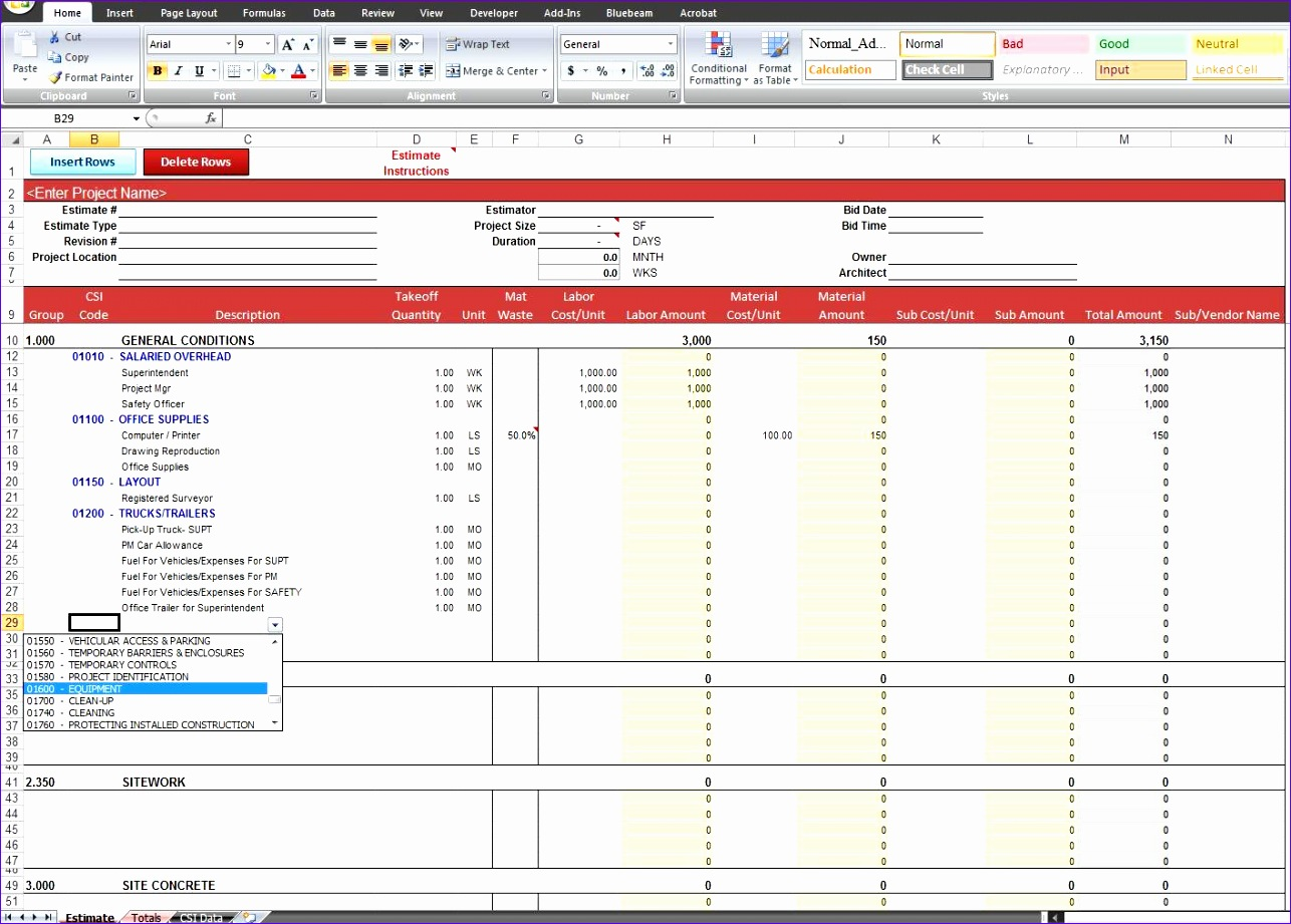 10 Ebay Excel Template