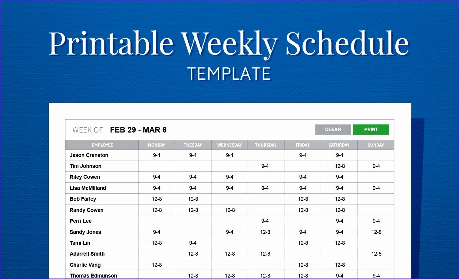 11 Employee Scheduling Excel Template