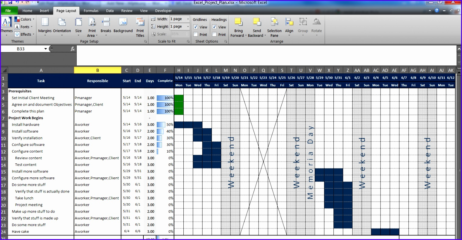 9 Free Project Management Templates For Excel
