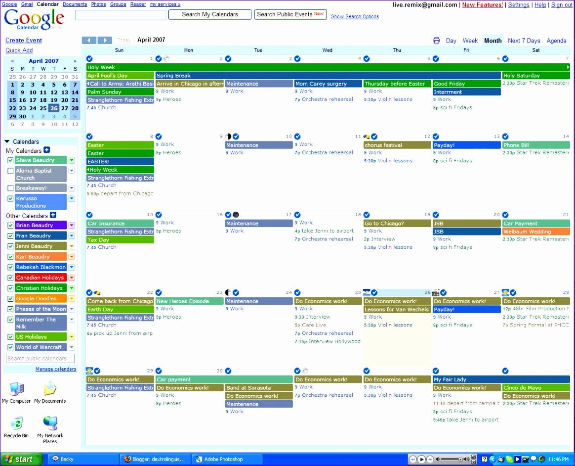 14 Excel Calendar Templates