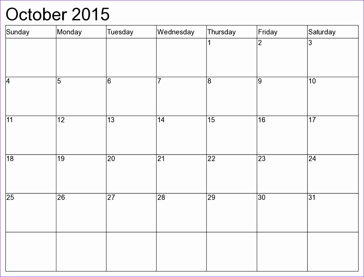6 Excel Monthly Calendar Template
