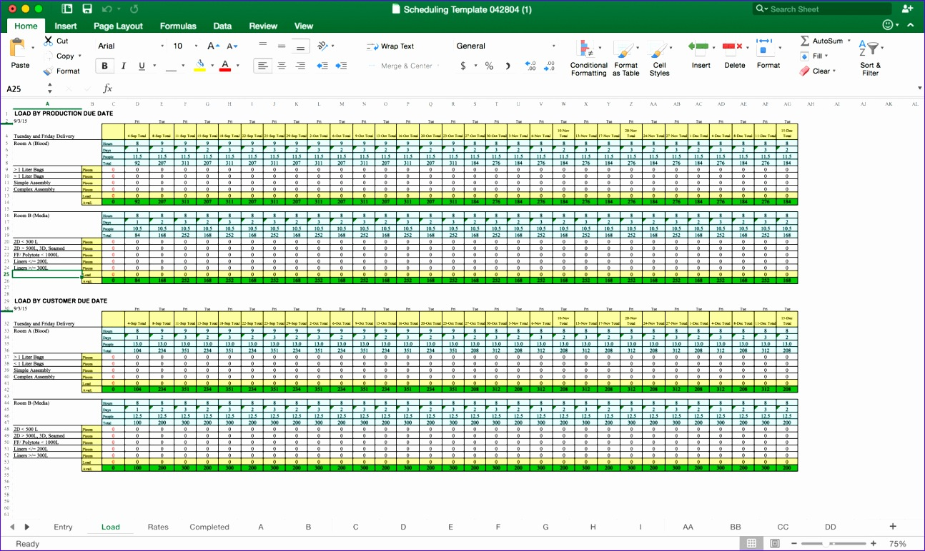 6 Excel Resource Planning Template