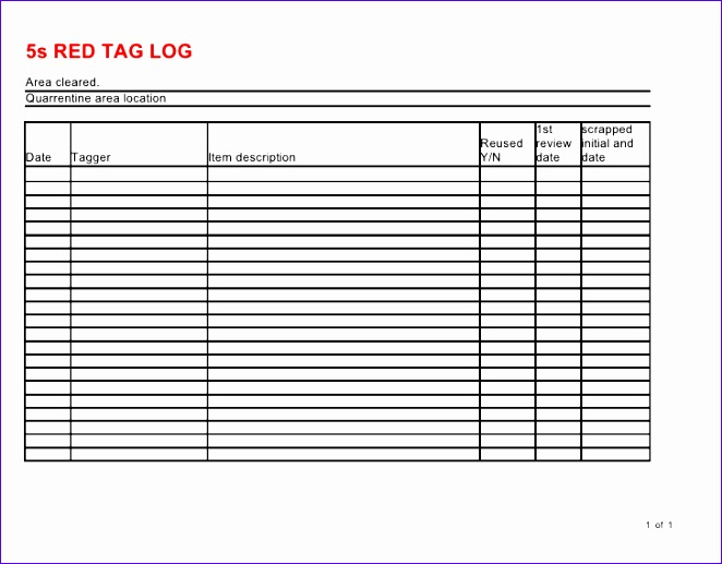 check sheet template excel