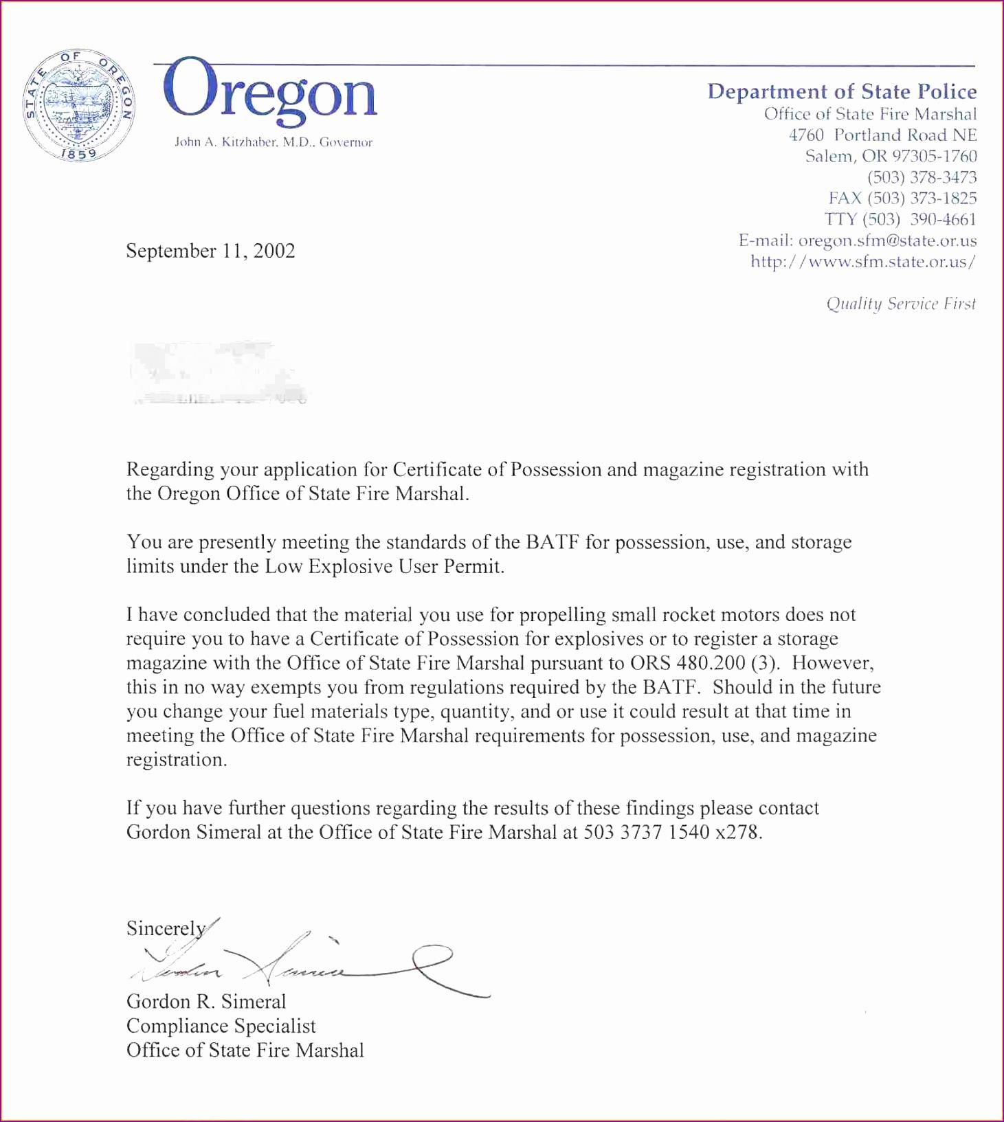 7 Format Official Letter
