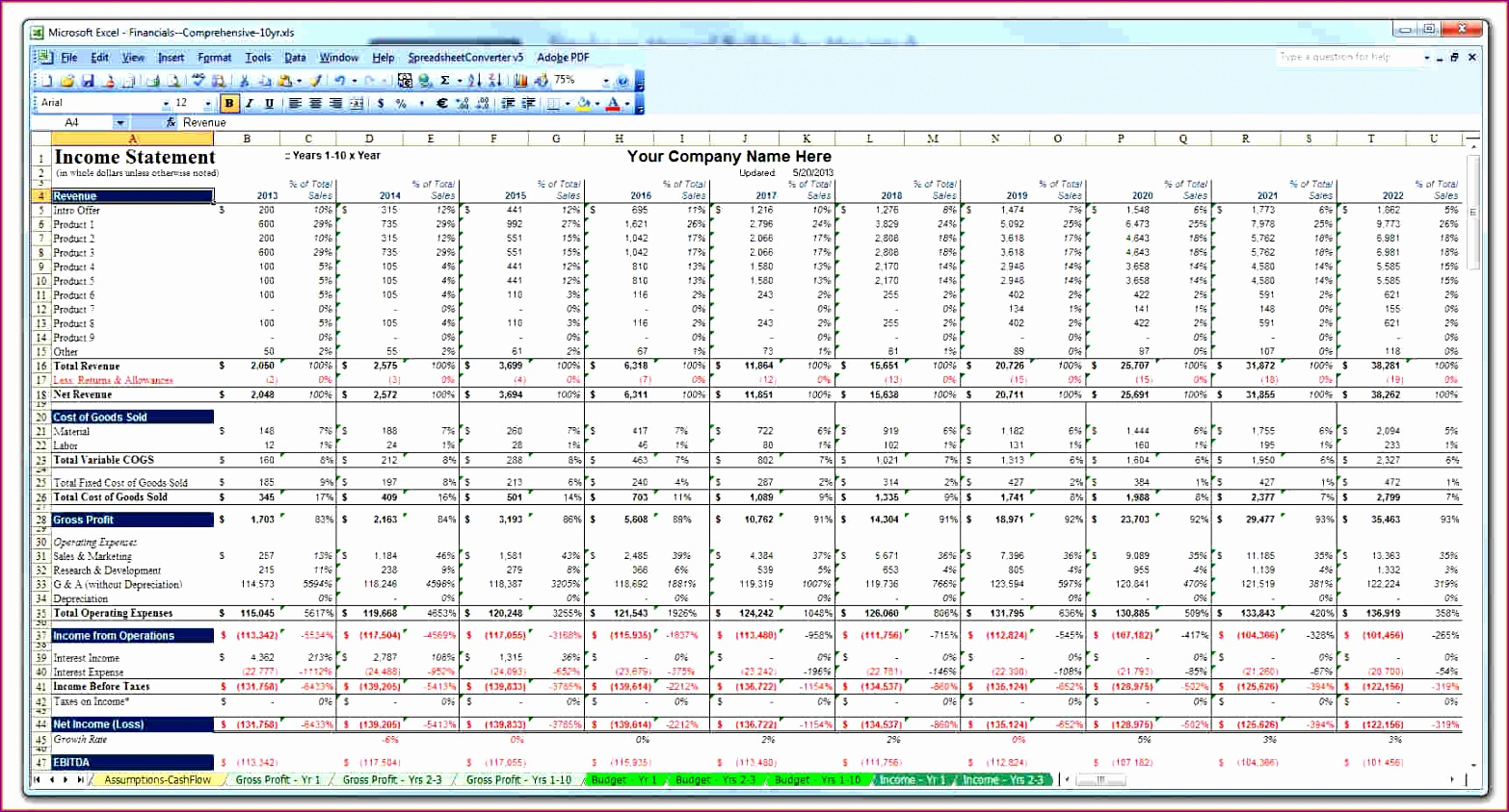 14 Free Excel Budget Spreadsheet Template