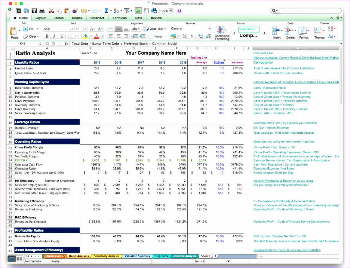 6 Income Statement Template Excel