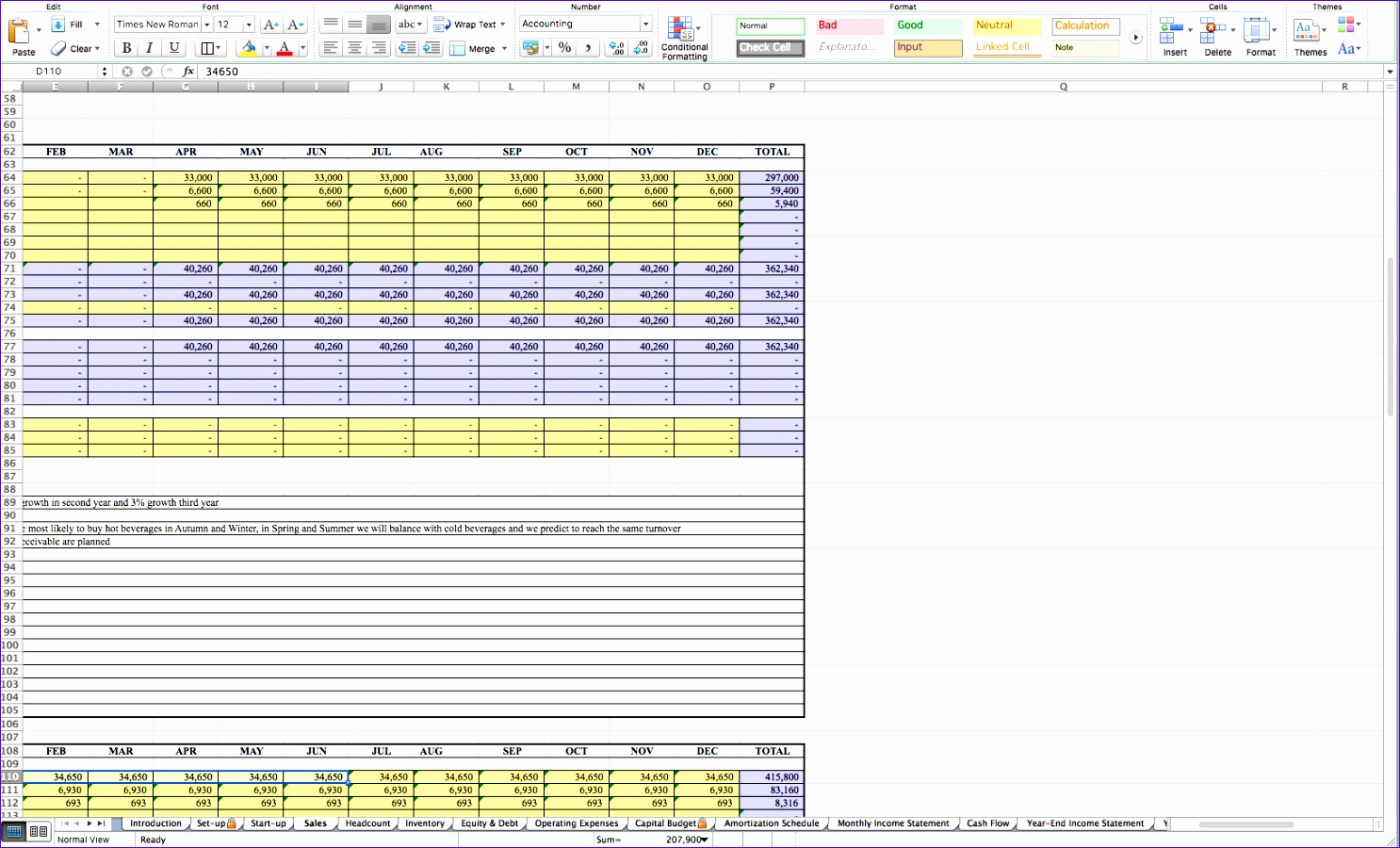 10 Inventory Spreadsheet Excel Template
