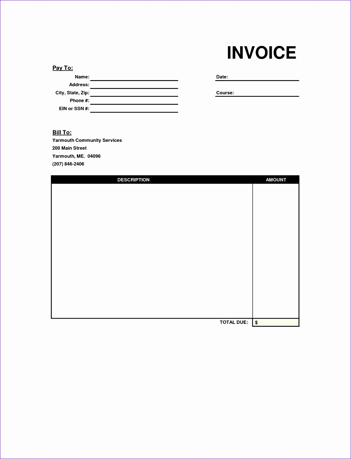 12 Invoice Template Excel Free Download