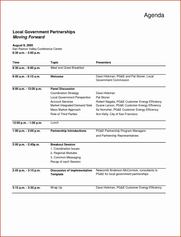 7 Meeting Agenda Template Excel