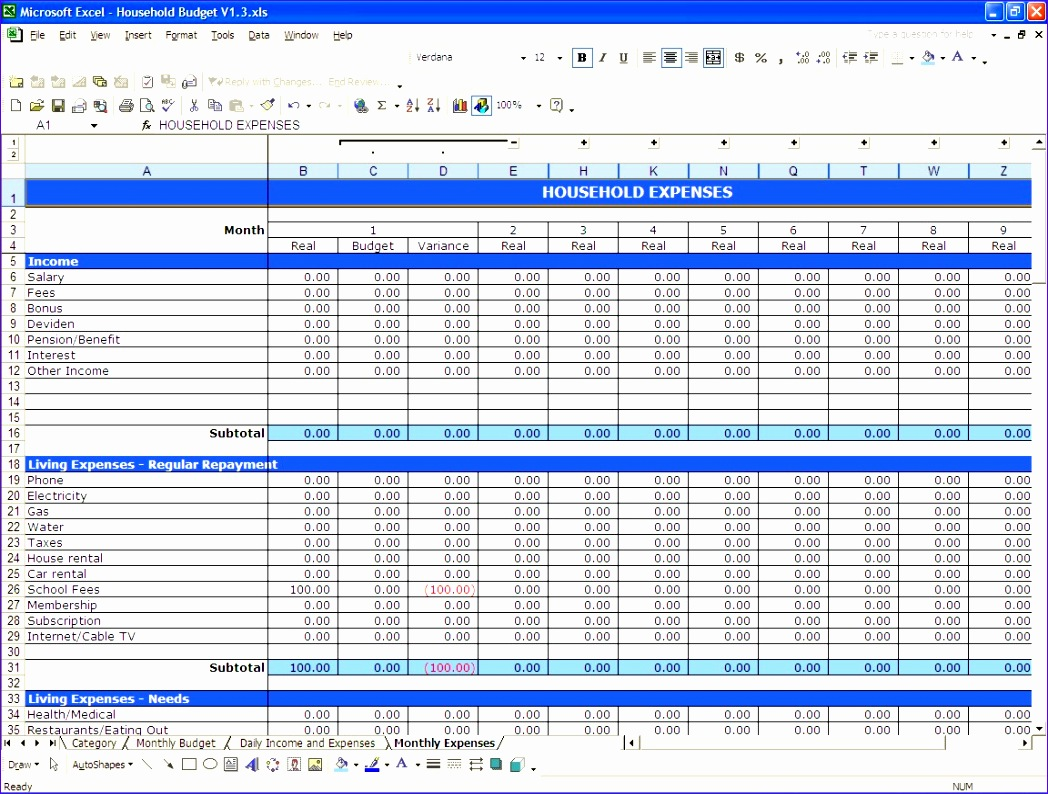 11 Microsoft Excel Budget Template