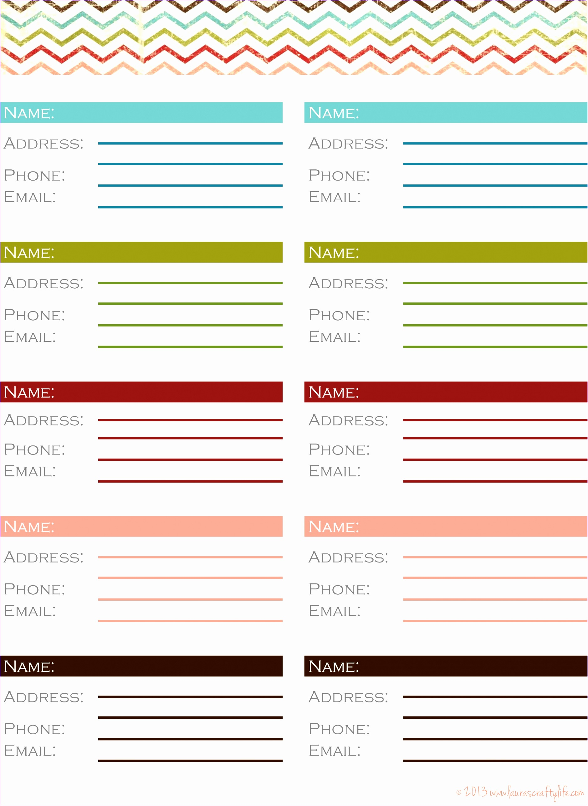 10 Phone Book Excel Template