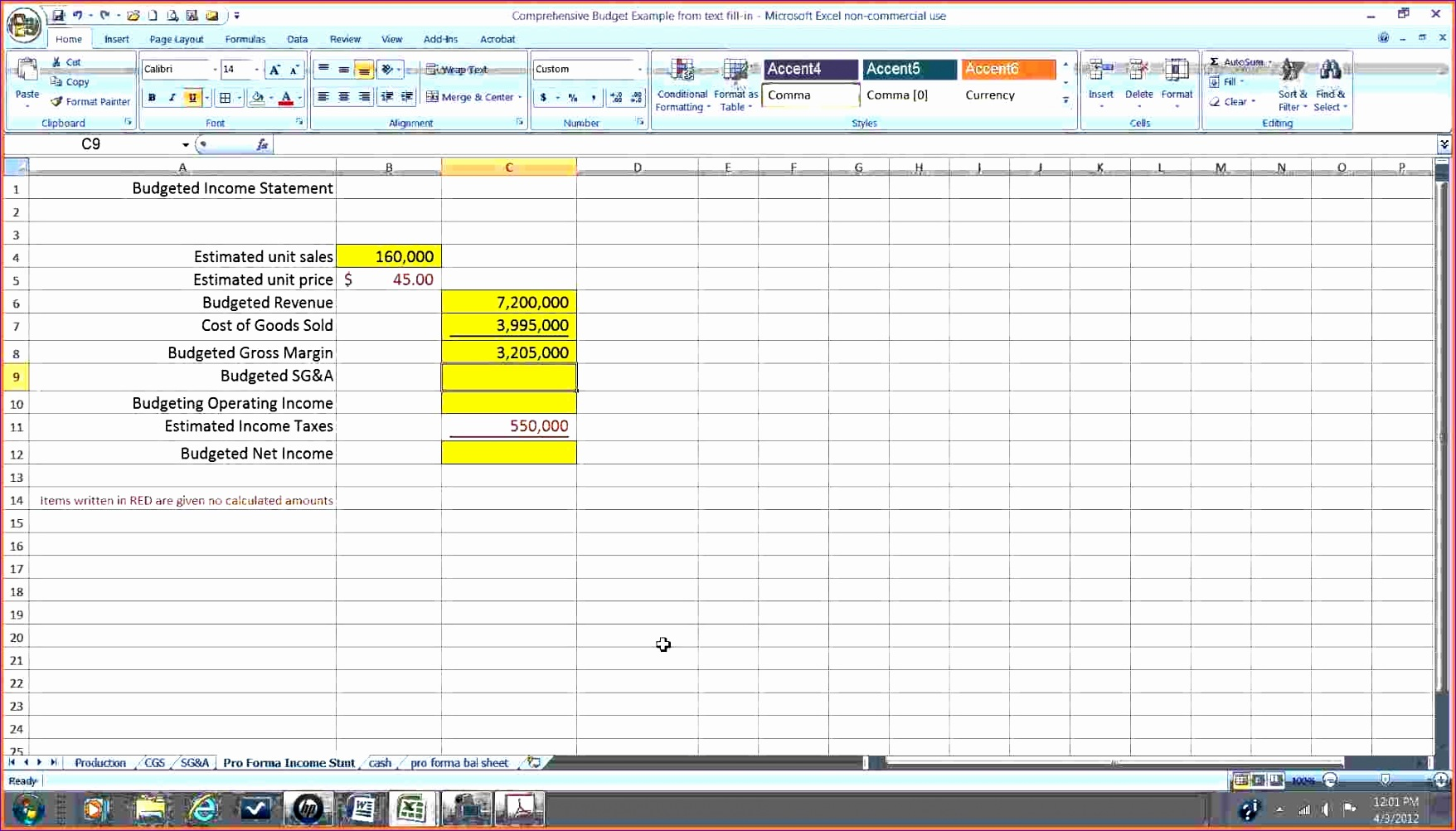 8 Pro Forma Income Statement Excel Template