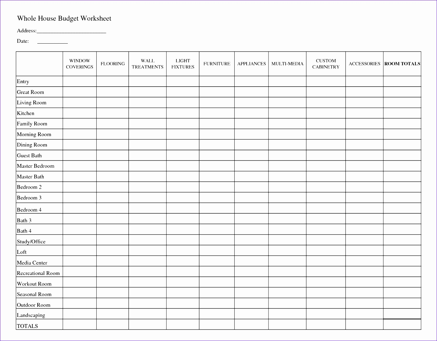 12 Project Budget Template Excel Free