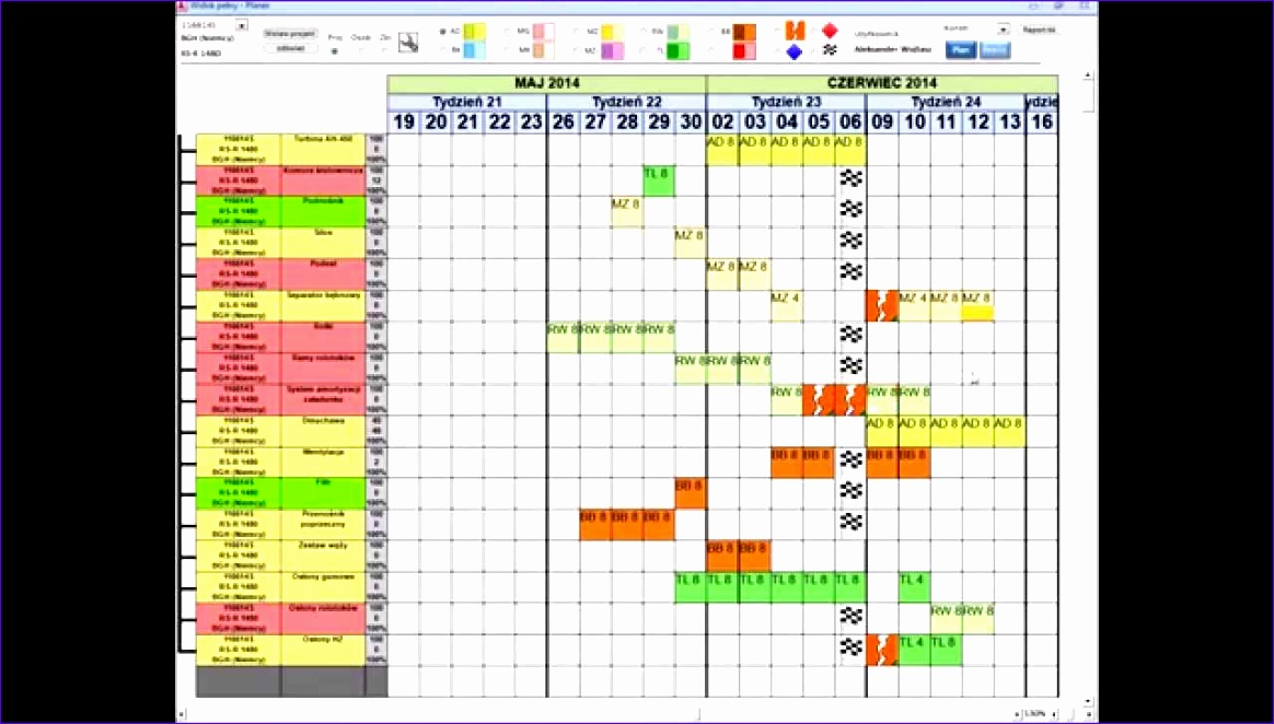 project planning excel