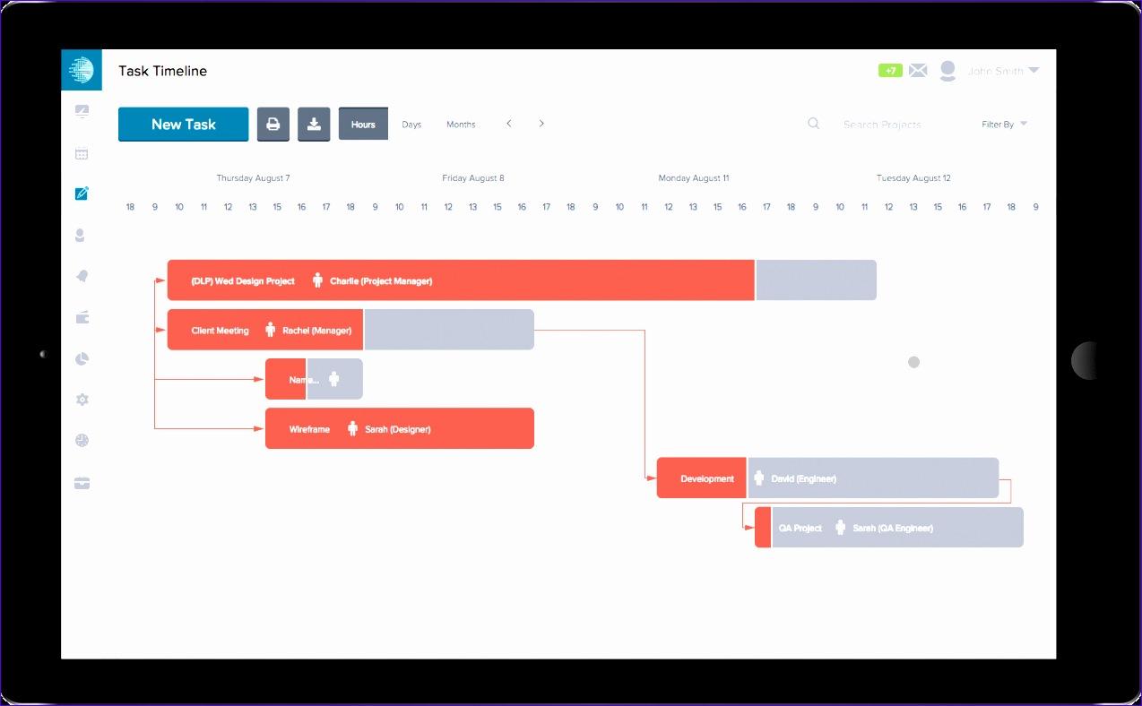 6 Project Management Timeline Excel Template