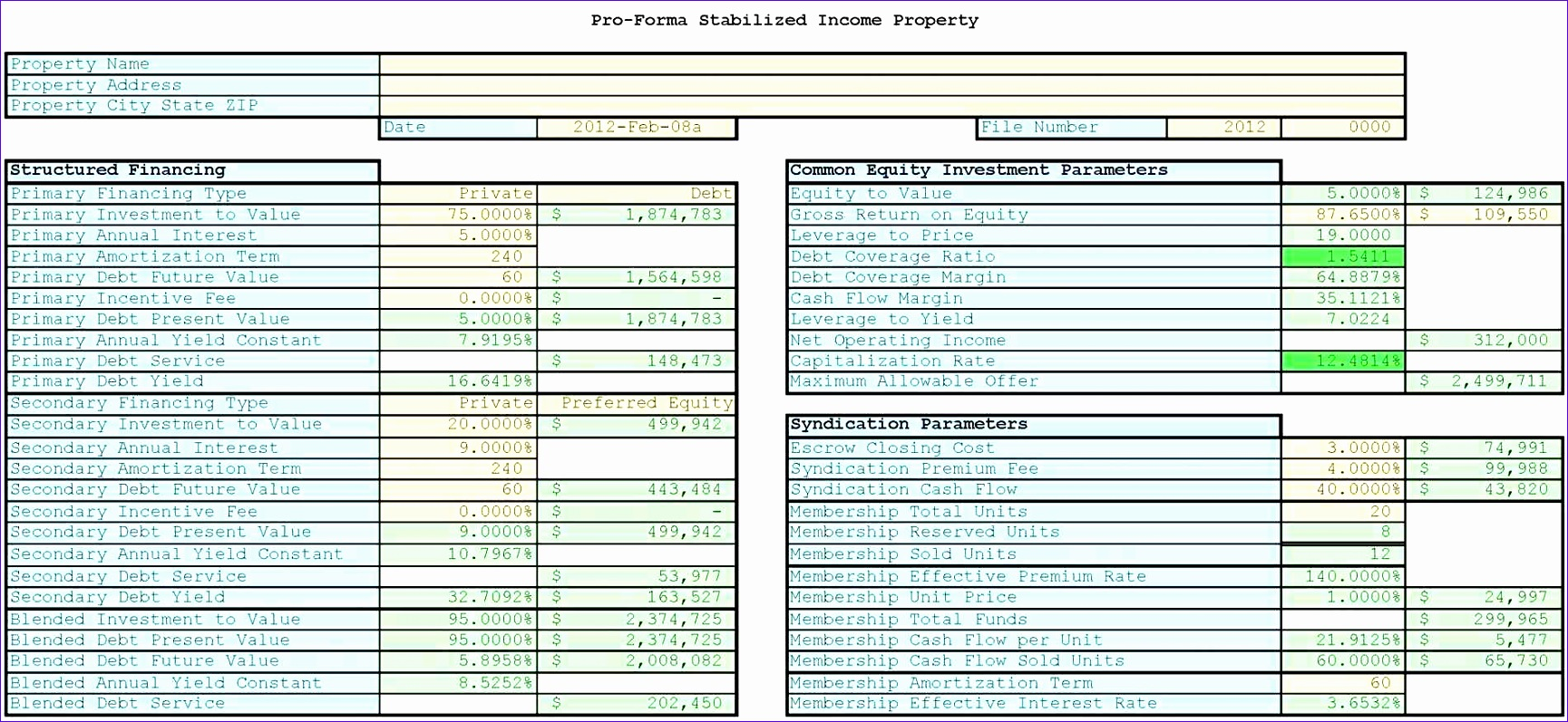 12 Return On Investment Excel Template