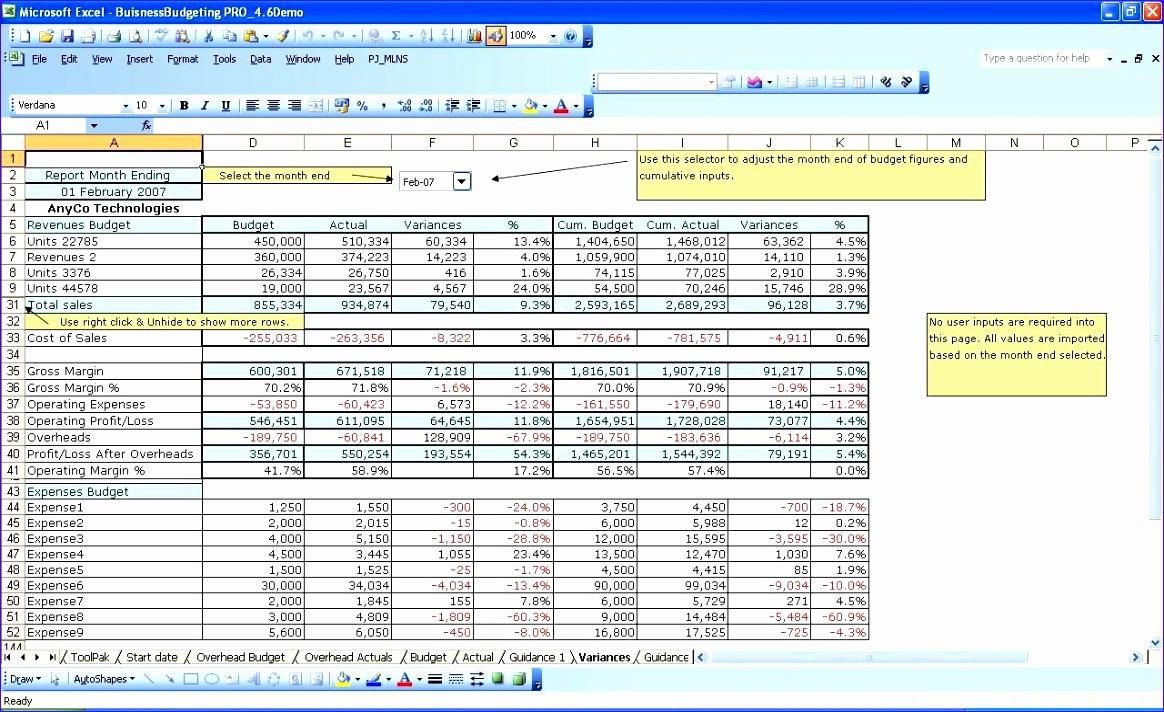 Sales forecast Excel Template Bfvhk Beautiful Bud Vs Actual ...