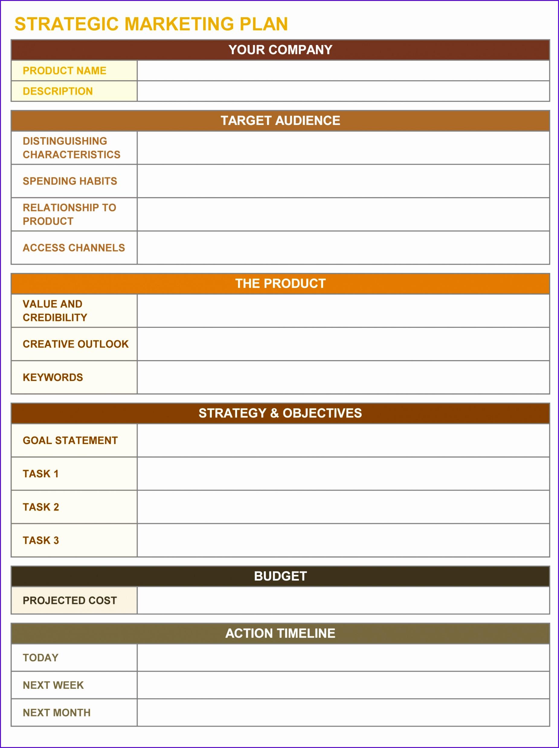 10 Goals Template Excel