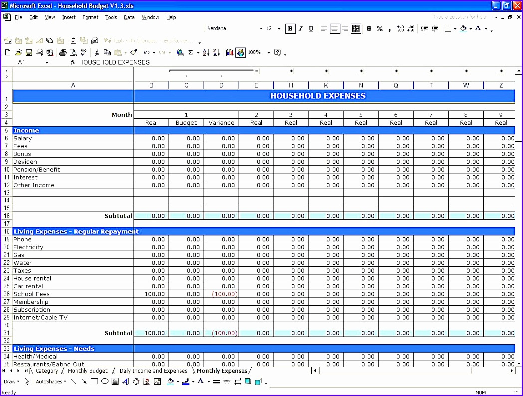 10 Simple Budget Template Excel