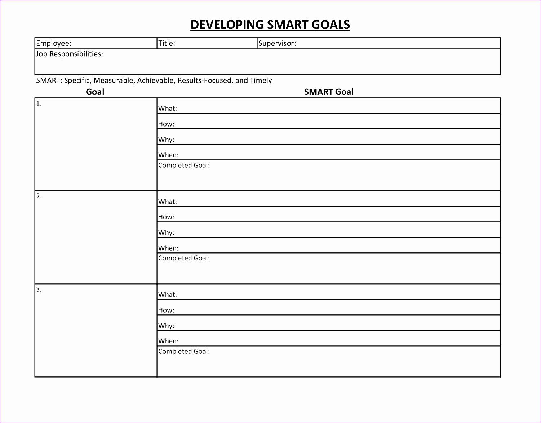 8 Smart Goals Excel Template