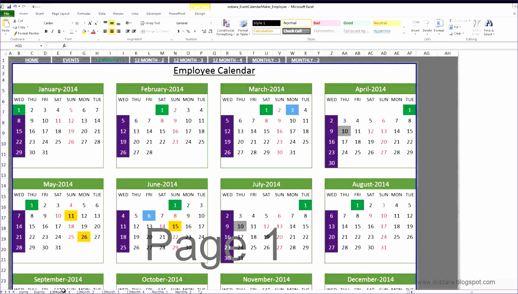 7 Vacation Tracker Excel Template