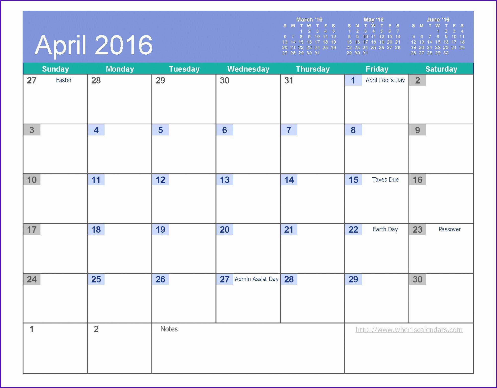 12 Download Excel Calendar Template