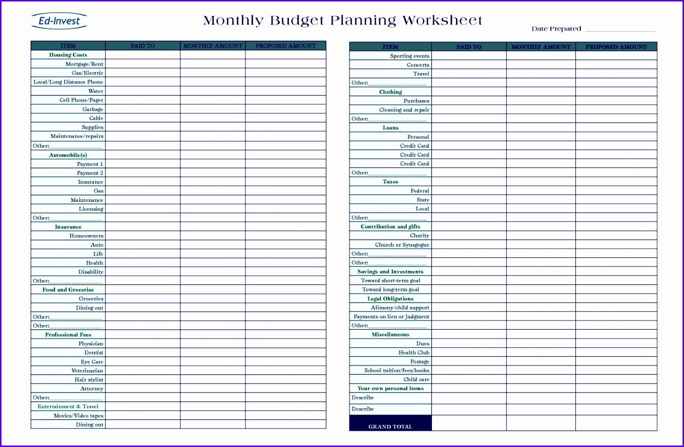 9 Business Plan Template In Excel