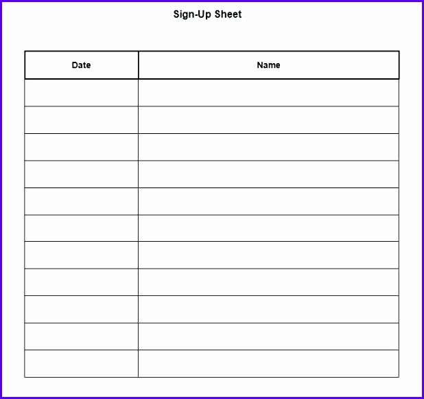 Raffle Sign Up Sheet Printable - Clipart Library •
