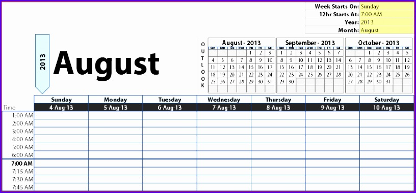 10 Year Calendar Template Excel - Excel Templates - Excel ...
