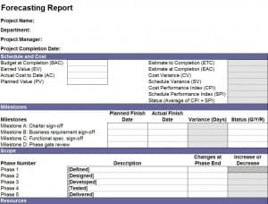 Financial Forecast Report Template