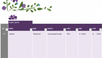 Gift Planner Template Excel Templates
