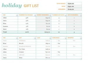 holiday to do list template
