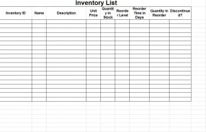 Amazing Inventory Control Forms Template