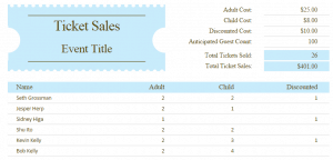 Ticket Sales Tracker Template