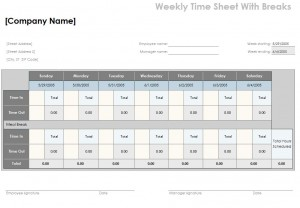 Timesheet Calculator with Lunch Template - Excel Templates