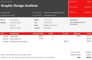 Web Service Invoice Template Excel Templates - Web invoice template
