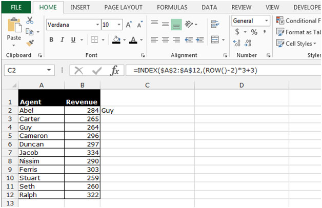 Retrieving the Nth Value in a Row, Column and Range in